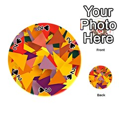 Geo Fun 8 Colorful Playing Cards 54 (round)