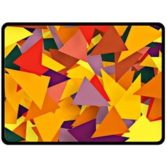 Geo Fun 8 Colorful Fleece Blanket (large)  by MoreColorsinLife