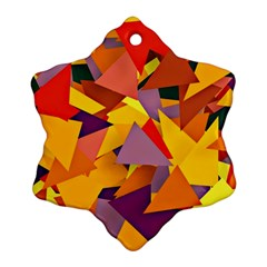 Geo Fun 8 Colorful Ornament (snowflake)  by MoreColorsinLife