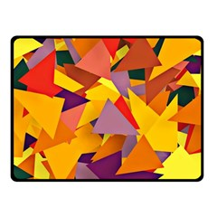 Geo Fun 8 Colorful Double Sided Fleece Blanket (small)  by MoreColorsinLife
