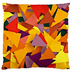 Geo Fun 8 Colorful Standard Flano Cushion Cases (One Side)  by MoreColorsinLife