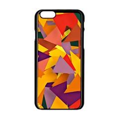 Geo Fun 8 Colorful Apple Iphone 6 Black Enamel Case by MoreColorsinLife