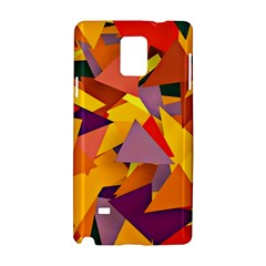 Geo Fun 8 Colorful Samsung Galaxy Note 4 Hardshell Case by MoreColorsinLife