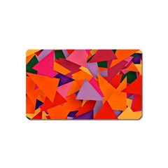 Geo Fun 8 Hot Colors Magnet (name Card) by MoreColorsinLife