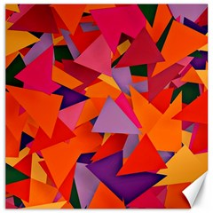 Geo Fun 8 Hot Colors Canvas 20  X 20   by MoreColorsinLife
