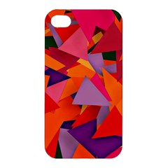 Geo Fun 8 Hot Colors Apple Iphone 4/4s Hardshell Case by MoreColorsinLife