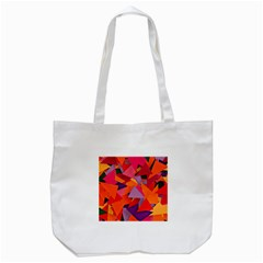 Geo Fun 8 Hot Colors Tote Bag (white)  by MoreColorsinLife