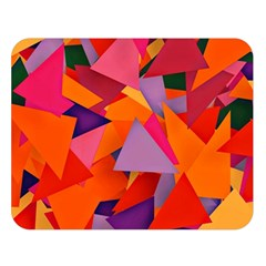 Geo Fun 8 Hot Colors Double Sided Flano Blanket (Large)