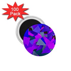 Geo Fun 8 Inky Blue 1 75  Magnets (100 Pack)  by MoreColorsinLife
