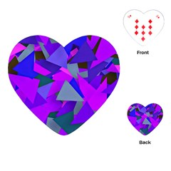 Geo Fun 8 Inky Blue Playing Cards (heart)