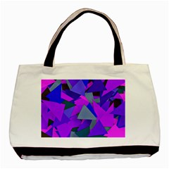 Geo Fun 8 Inky Blue Basic Tote Bag (two Sides)  by MoreColorsinLife
