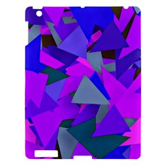 Geo Fun 8 Inky Blue Apple Ipad 3/4 Hardshell Case by MoreColorsinLife