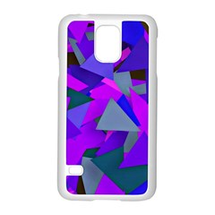 Geo Fun 8 Inky Blue Samsung Galaxy S5 Case (white) by MoreColorsinLife