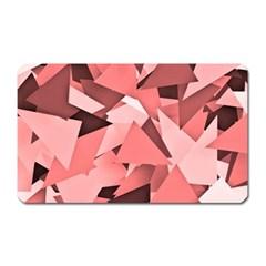 Geo Fun 8 Peach Magnet (rectangular) by MoreColorsinLife