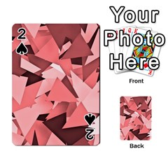 Geo Fun 8 Peach Playing Cards 54 Designs