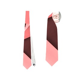 Geo Fun 8 Peach Neckties (two Side)
