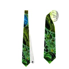 Lovely Allover Bubble Shapes Green Neckties (two Side)  by MoreColorsinLife