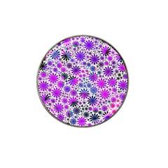 Lovely Allover Flower Shapes Pink Hat Clip Ball Marker (10 Pack) by MoreColorsinLife
