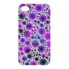 Lovely Allover Flower Shapes Pink Apple Iphone 4/4s Hardshell Case by MoreColorsinLife