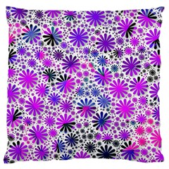 Lovely Allover Flower Shapes Pink Large Cushion Cases (one Side)  by MoreColorsinLife
