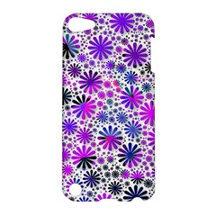 Lovely Allover Flower Shapes Pink Apple Ipod Touch 5 Hardshell Case by MoreColorsinLife