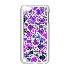 Lovely Allover Flower Shapes Pink Apple Ipod Touch 5 Case (white) by MoreColorsinLife