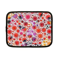 Lovely Allover Flower Shapes Netbook Case (Small)  by MoreColorsinLife