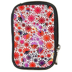 Lovely Allover Flower Shapes Compact Camera Cases by MoreColorsinLife