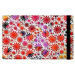 Lovely Allover Flower Shapes Apple Ipad 3/4 Flip Case by MoreColorsinLife