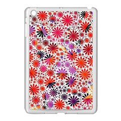 Lovely Allover Flower Shapes Apple Ipad Mini Case (white) by MoreColorsinLife