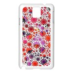 Lovely Allover Flower Shapes Samsung Galaxy Note 3 N9005 Case (White) Front