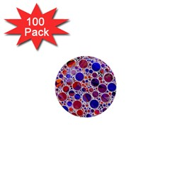 Lovely Allover Hot Shapes Blue 1  Mini Buttons (100 Pack)  by MoreColorsinLife