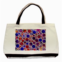 Lovely Allover Hot Shapes Blue Basic Tote Bag