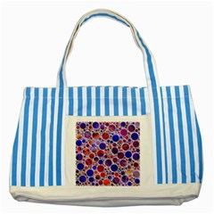 Lovely Allover Hot Shapes Blue Striped Blue Tote Bag  by MoreColorsinLife