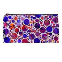 Lovely Allover Hot Shapes Blue Pencil Cases by MoreColorsinLife
