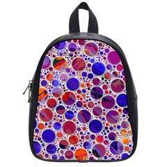 Lovely Allover Hot Shapes Blue School Bags (small)  by MoreColorsinLife