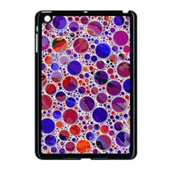 Lovely Allover Hot Shapes Blue Apple Ipad Mini Case (black) by MoreColorsinLife