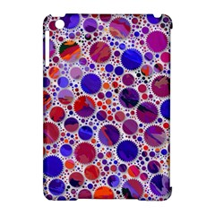 Lovely Allover Hot Shapes Blue Apple Ipad Mini Hardshell Case (compatible With Smart Cover) by MoreColorsinLife