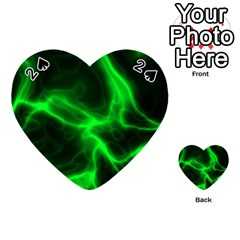 Cosmic Energy Green Playing Cards 54 (heart)