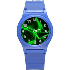 Cosmic Energy Green Round Plastic Sport Watch (s) by ImpressiveMoments
