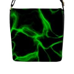 Cosmic Energy Green Flap Messenger Bag (l)  by ImpressiveMoments