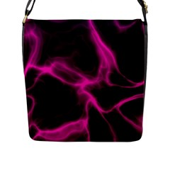 Cosmic Energy Pink Flap Messenger Bag (l)  by ImpressiveMoments