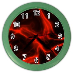 Cosmic Energy Red Color Wall Clocks by ImpressiveMoments