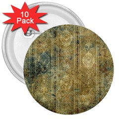 Beautiful  Decorative Vintage Design 3  Buttons (10 Pack)  by FantasyWorld7