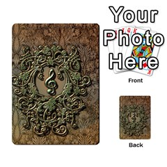 Elegant Clef With Floral Elements On A Background With Damasks Multi Purpose Cards (rectangle)