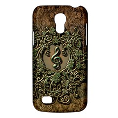 Elegant Clef With Floral Elements On A Background With Damasks Galaxy S4 Mini by FantasyWorld7