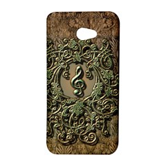 Elegant Clef With Floral Elements On A Background With Damasks HTC Butterfly S/HTC 9060 Hardshell Case by FantasyWorld7