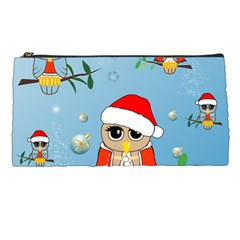 Funny, Cute Christmas Owls With Snowflakes Pencil Cases by FantasyWorld7