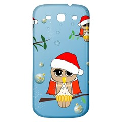Funny, Cute Christmas Owls With Snowflakes Samsung Galaxy S3 S Iii Classic Hardshell Back Case by FantasyWorld7