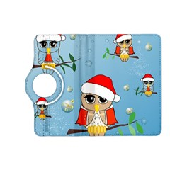 Funny, Cute Christmas Owls With Snowflakes Kindle Fire Hd (2013) Flip 360 Case by FantasyWorld7